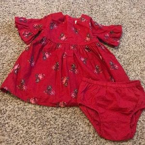 Baby Gap red floral dress